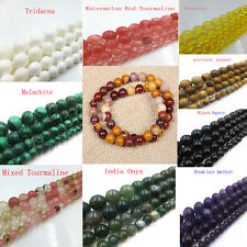 "Wholesale Natural Gemstone Agate Round Jewelry Making loose beads strand 15""x1"
