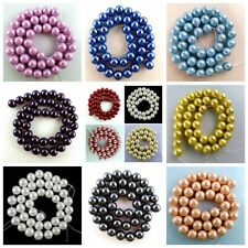 """Wholesale 10mm Mixed Color Shell Pearl Round Loose Bead Women gift 15.5"""" WTZ149"""