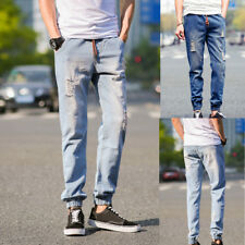 New Mens Fashion Designed Straight Slim Fit Trousers Casual Jeans Pants Casual