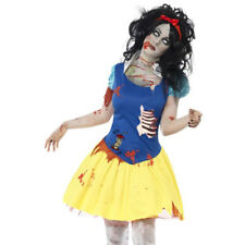 Adult Womens Zombie Snow White Halloween Fancy Dress Costume Outfit 23352