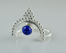 Lapis Lazuli 925 Solid Sterling Silver Handmade Ring Size 3 to 13 (US)