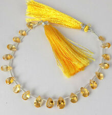 1 Strand Natural AAA Quality Citrine Pear Faceted 8 Inch Long Briolette Beads