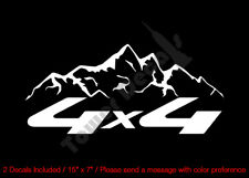 4X4 MOUNTAIN RANGE ROUNDED VINYL DECALS FITS:CHEVY GMC DODGE FORD NISSAN TOYOTA