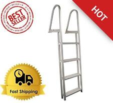 Extreme Max 4/5-Step Pontoon/Dock Ladder Aluminum Boat Swimming Pool