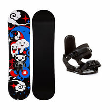 Firefly Explicit Black Stealth Girls Snowboard and Binding Package