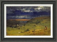 'Sunset at Etretat, Normandy' by George Inness Framed Painting Print