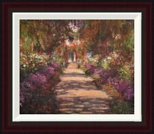 A Lane in Monets Garden Giverny II by Claude Monet Framed Painting Print