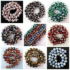 "Wholesale 10mm Faceted Dragon Veins Agate Ball Loose Beads 15.5"" mm W-tz"