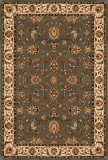 Gray Beige Bordered Persian Rugs Area Rug Traditional Oriental Vines Carpet