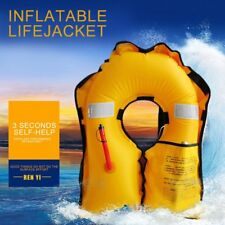 ADULT AUTOMATIC MANUAL INFLATABLE LIFE JACKET 150N SAILING BOATING BUOYANCY AID#