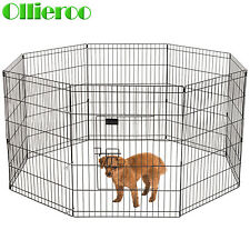 Ollieroo 24 30 Tall Dog Playpen Crate Fence Pet Play Pen Exercise Cage - 8 Panel