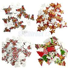 100pcs Wood Xmas Pattern Buttons Sewing Scrapbooking Gift Clothing Decoration