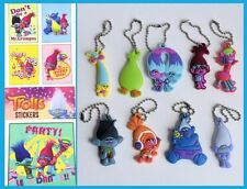 Party Favors Troll Charms and stickers kids Birthday Loot Bag Filler Goody Gifts
