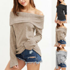 2017 Hot New Lady Women Off-shoulder Autumn/Winter Sweater Jumper Top Pullover