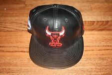 CHICAGO BULLS NEW ERA FAUXE LEATHER 9FIFTY SNAPBACK M-L HAT CAP 100% AUTHENTIC