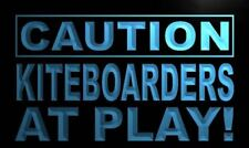 m594-b Caution Kiteboarder at Play Neon Light Sign
