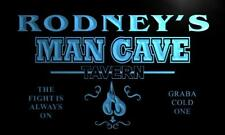 x0112-tm Rodney's Man Cave Custom Personalized Name Neon Sign