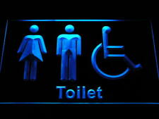 i1033-b Unisex Toilet with Disabled Accessible Restroom Washroom Neon Sign