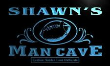 x0092-tm Shawn's Man Cave Football End Zone Custom Personalized Name Neon Sign