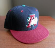 Altoona Curve New Era Fitted Hat Cap MiLB Deadstock Pittsburgh Pirates Black Red