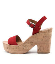 New Dolce Vita Randi Red Womens Shoes Casual Sandals Heeled