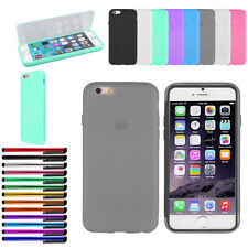 TPU Matte Wrap Up Phone Case Cover with Built In Screen Protector For iPhone 6