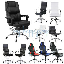 Luxury Executive Office Computer Chair Faux Leather Swivel Reclining Mesh Wheels