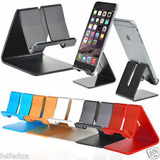 New Universal Aluminum Cell Phone Desk Stand Holder For iPhone Samsung Tablet PC
