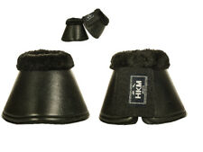 HKM German Padded Fleece Lined Over Reach Boots/Bell Boots - Colours, Sizes,