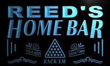 x1055-tm Reed's Home Bar Billiards Room Custom Personalized Name Neon Sign