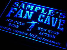 th-tm Name Personalized Custom Bar Soccer Football Fan Cave Man Beer Neon Sign