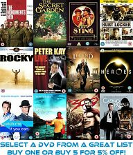 LARGE SELECTION OF DVD'S - SELECT & BUY - USED