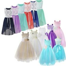 Flower Girls Dress Wedding Bridesmaid Birthday Party Kids Formal Prom Ball Gown