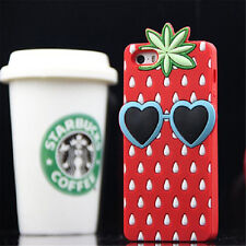 New 3D Cute Cartoon Soft Silicone Rubber Case Cover Back For Apple iPhone