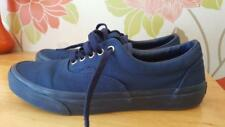 VANS Era Mono Off The Wall Navy Pumps Lace Up Mens Trainers Shoes Vgc Size 9 Uk