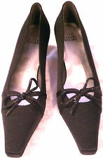 "Stuart Weitzman Woman Shoes Size 8.5 AA Narrow Black Medium Heel 2"" Special Occa"