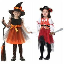Kid Girl Pirate Fairy Witch Halloween Costume Outfit Party Fancy Dress Up Clothe
