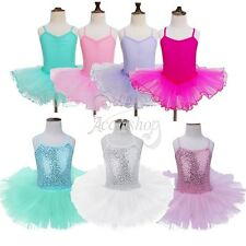 Princess Kids Girls Ballet Ballerina Dance Gymnastics Dress Tutu Skirt Costumes