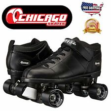 Chicago Bullet Skates Speed Skate Roller Skating Shoes Roller Skates Black New