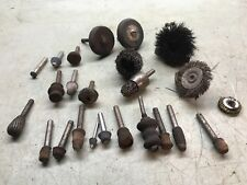 Assorted Lot Sanding Drum Wire Brush Dremel Rotary Tools Accessories