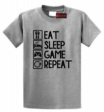 Eat Sleep Game Repeat Funny T Shirt Gamer Nerd Geek Gift Graphic Tee