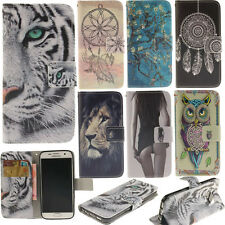 Cute patterns pu leather phone case for iPhone magnetic flip wallet holder cover