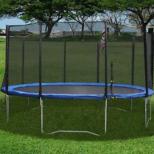 10 12FT Trampoline w/ Safety Pad & Enclosure Net &Ladder All-in-One Combo Set SK