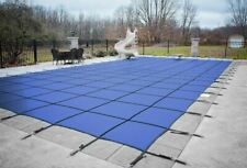 Rectangle BLUE MESH In-Ground Swimming Pool Safety Cover 15 Year- (Choose Size)