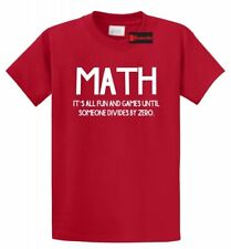 Funny Math T Shirt Division College Math Teacher Humor Tee Shirt