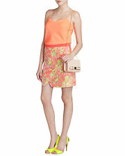 "TED BAKER "" KELECHE"" NEON ORANGE JACQUARD  WRAP SKIRT UK 10/2 BNWT RRP £129.00"