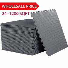 LOT 24-1200 SQ FT INTERLOCKING EVA FOAM FLOOR PUZZLE WORK GYM MATS PUZZLE MAT SK