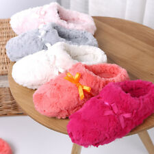 Women Casual Indoor Faux Fur Floral Winter warm Slipper shoes comfy Slipper Home