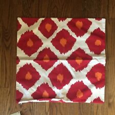 NWT New Pottery Bard red Orange IKAT Zippered Pillow Cover 20 by 20