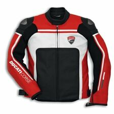 Ducati Corse DAINESE Leather Jacket Perforated Red/White Biker NEW